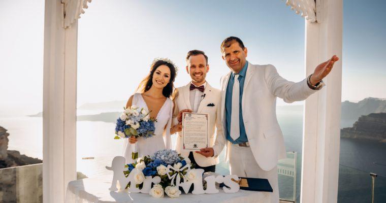 Nunta noastră în Santorini!