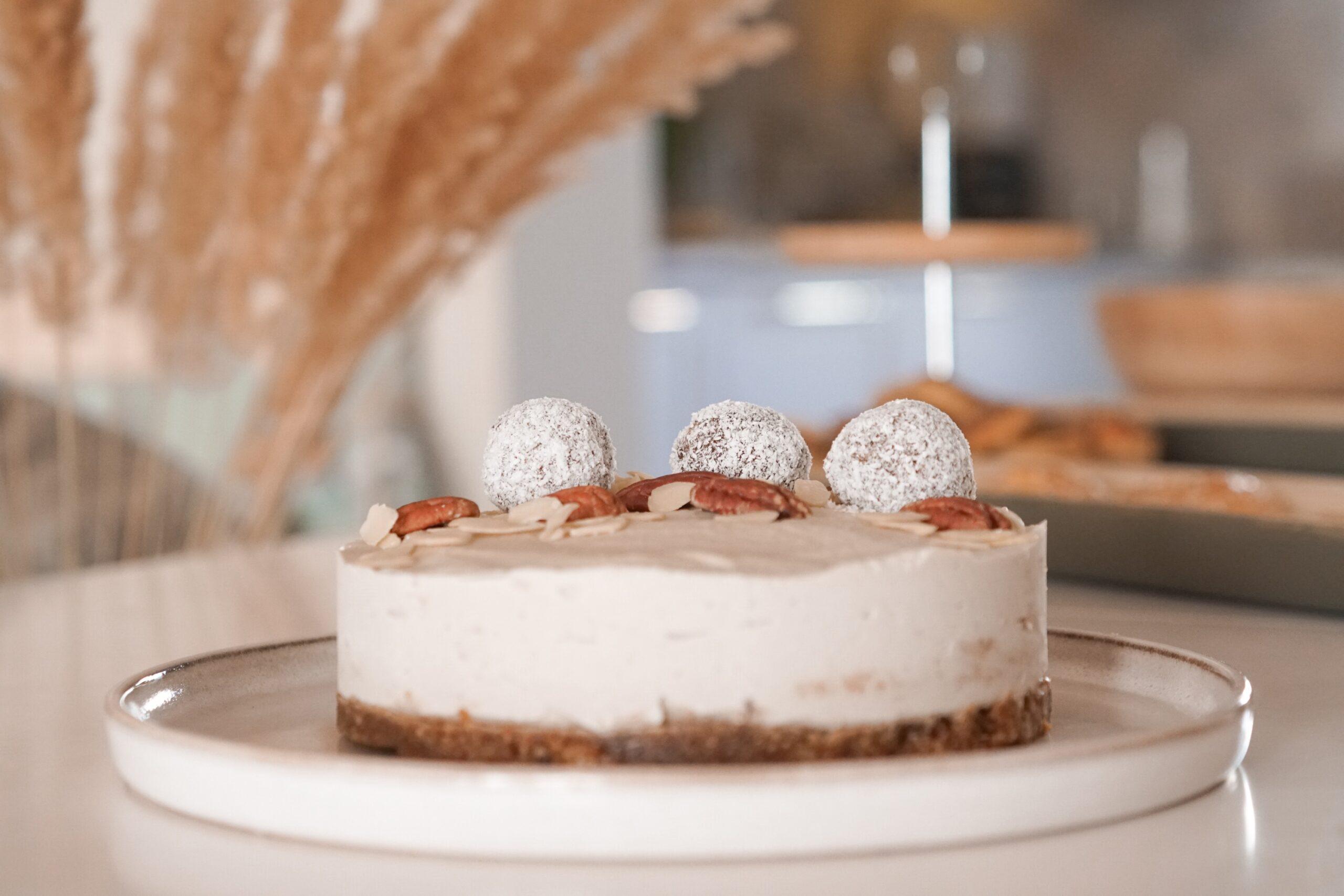 Cheesecake din caju – raw vegan